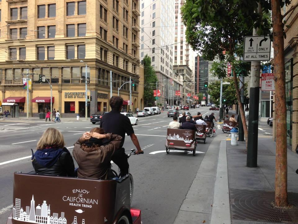 "Louis Vuitton's ""Healthy California"" includes Pedicabs"