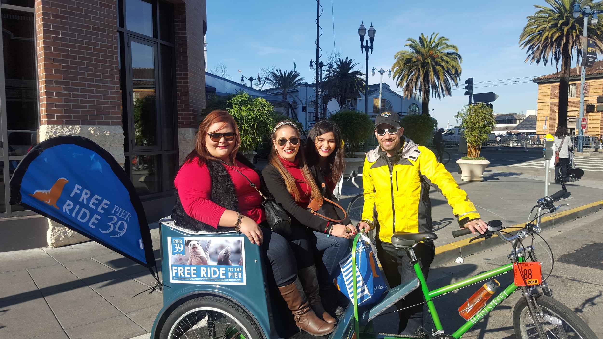 Pedicab Shuttle for Pier 39