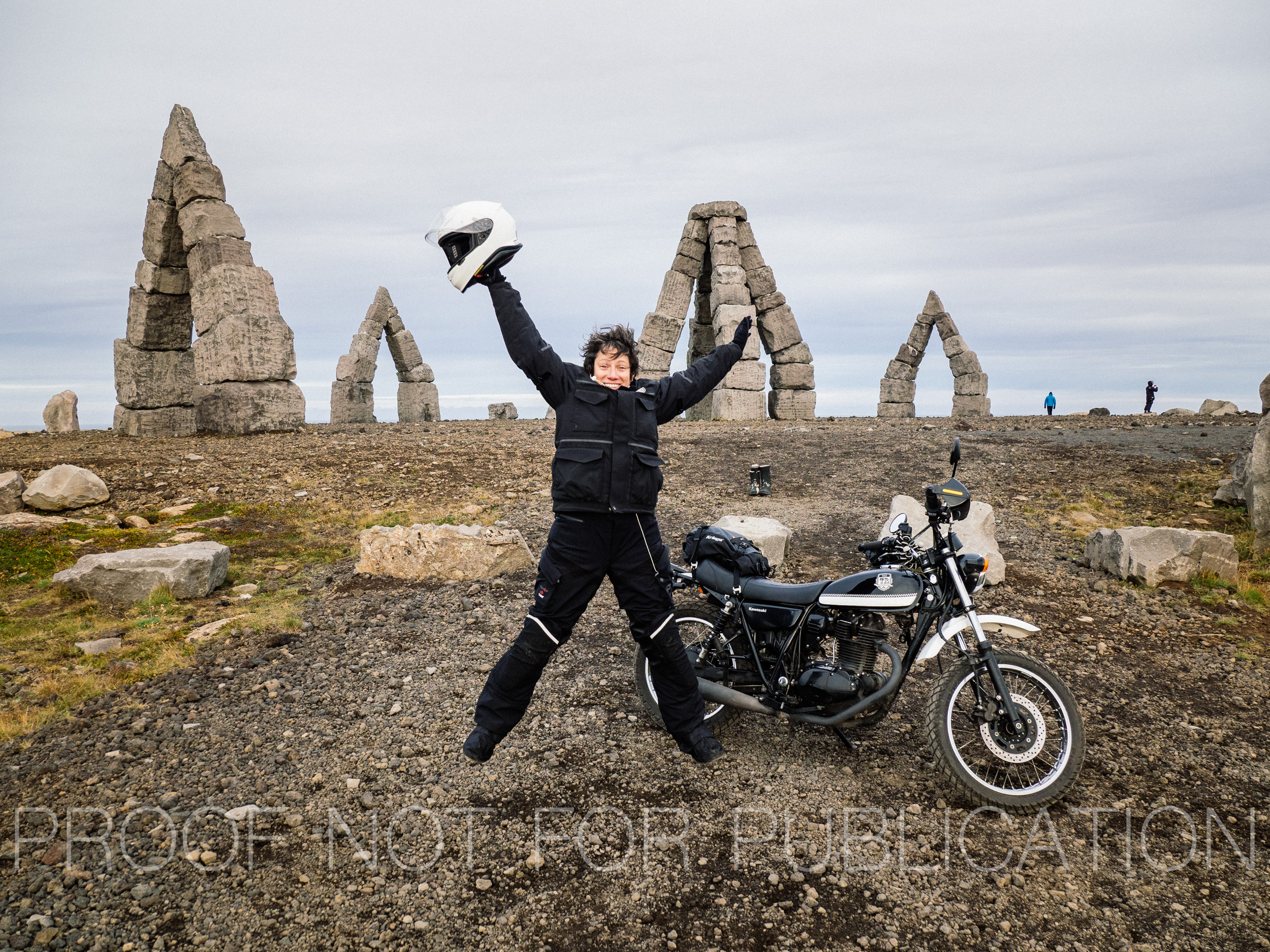 Arrival at the Arctic Henge. Photograph by Romi Schmitz
