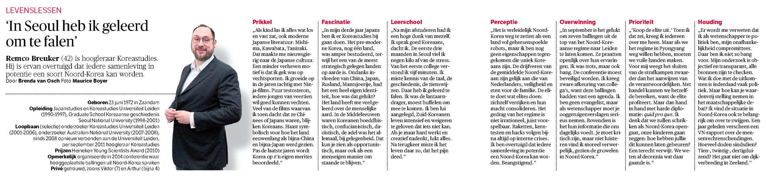 NRC Handelsblad - 17 januari 2015