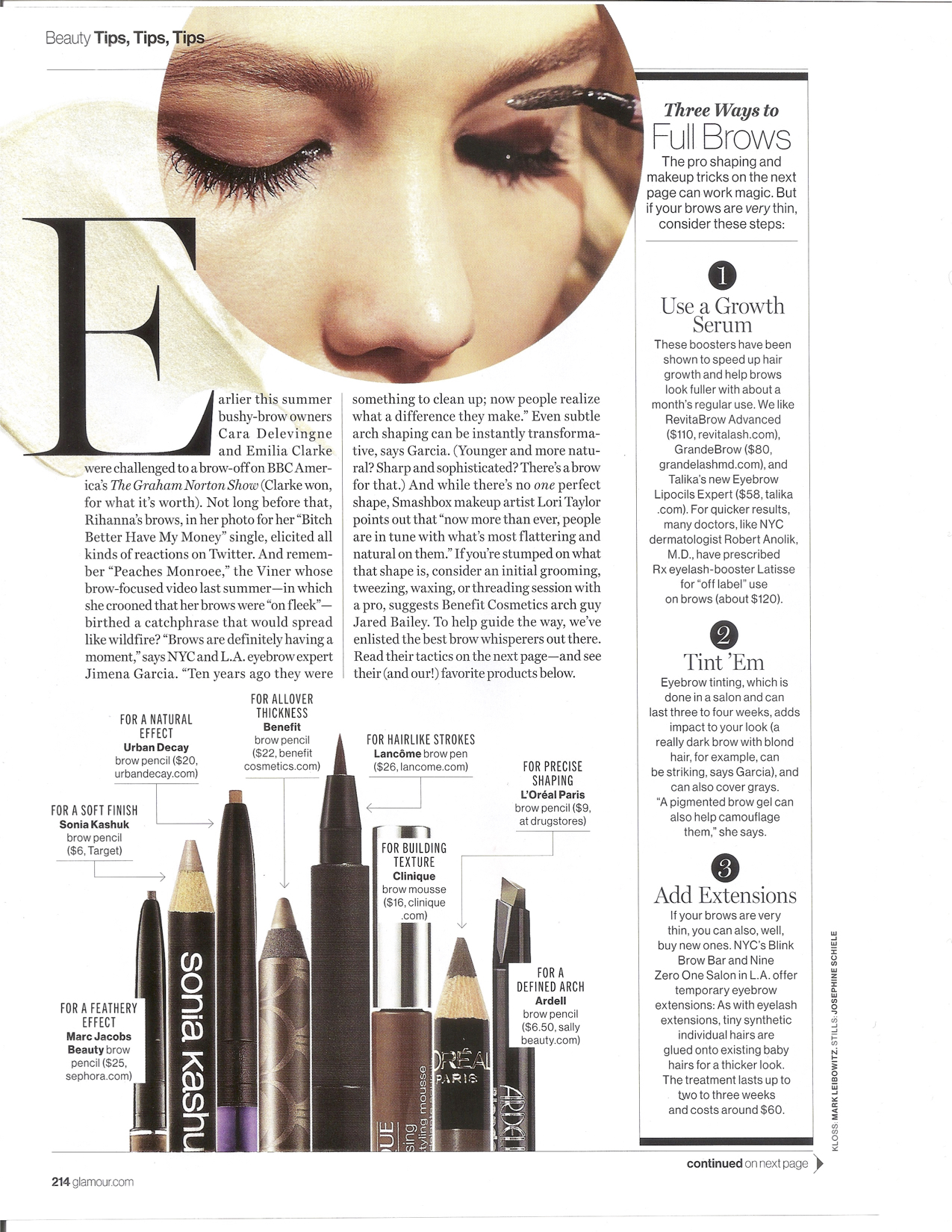 Glamour- Your Best Brows Ever, October 2015 pg2.jpg