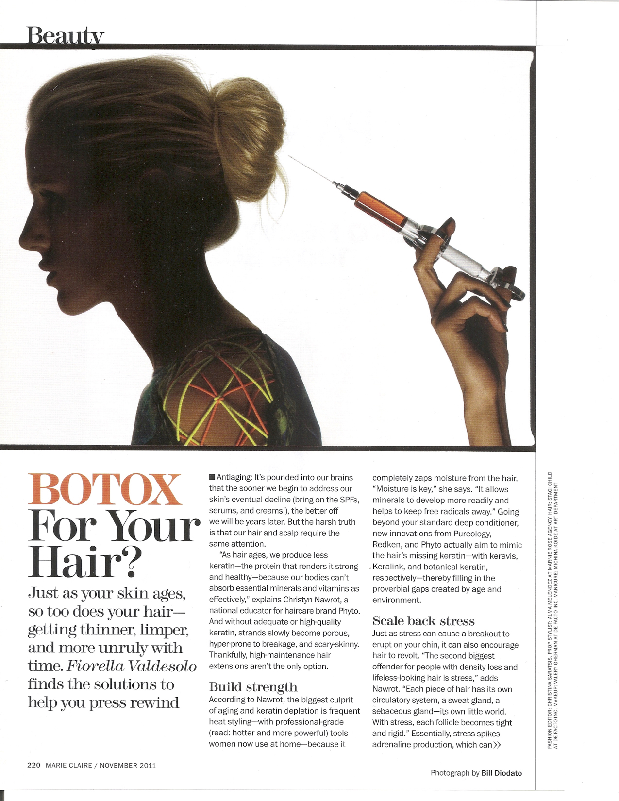 Marie Claire - Botox For Your Hair? pg1.jpg