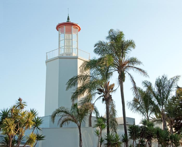 Santa Barbara Lighthouse on Butterfly Beach