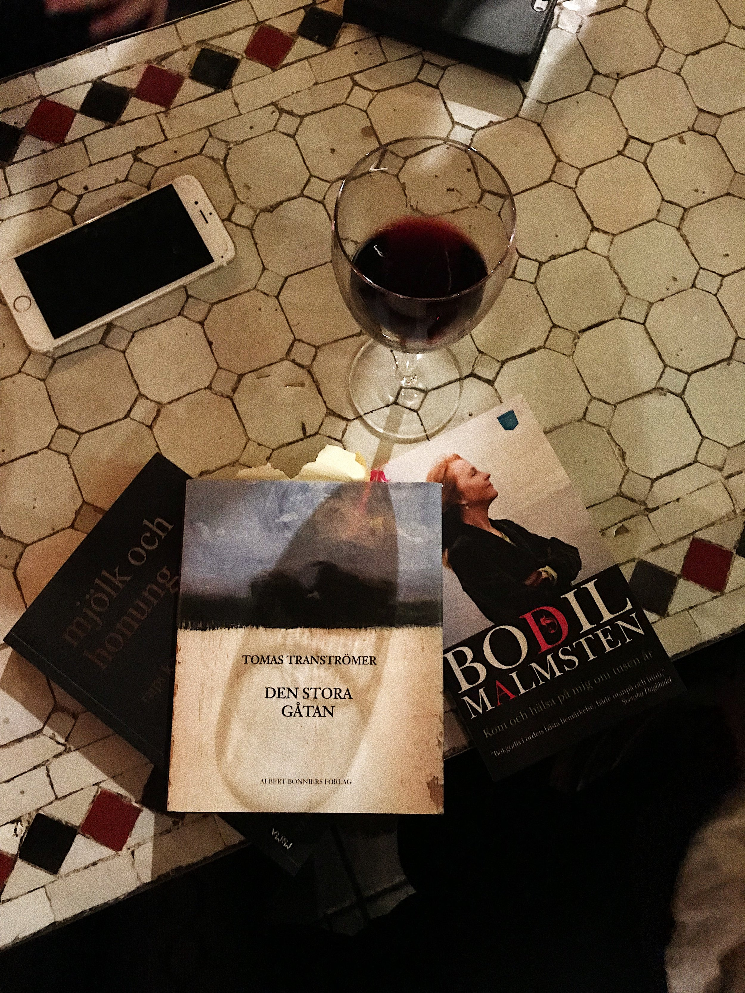 First official book club evening last Thursday.