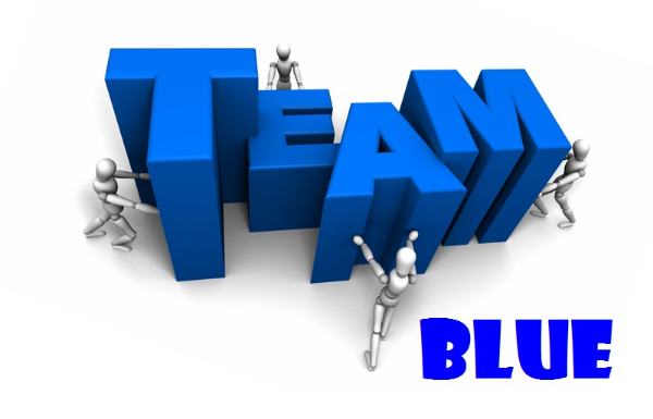 I'm on Team Blue!