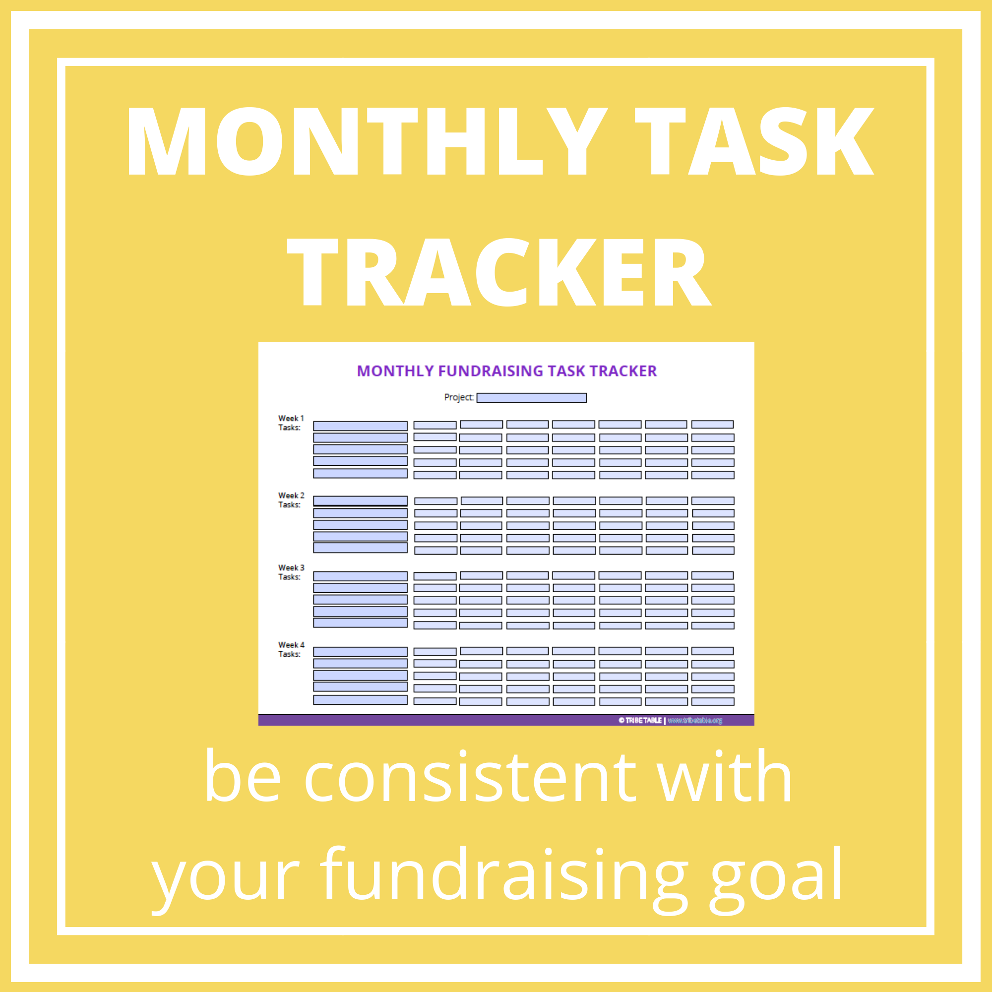 monthly fundraising task tracker