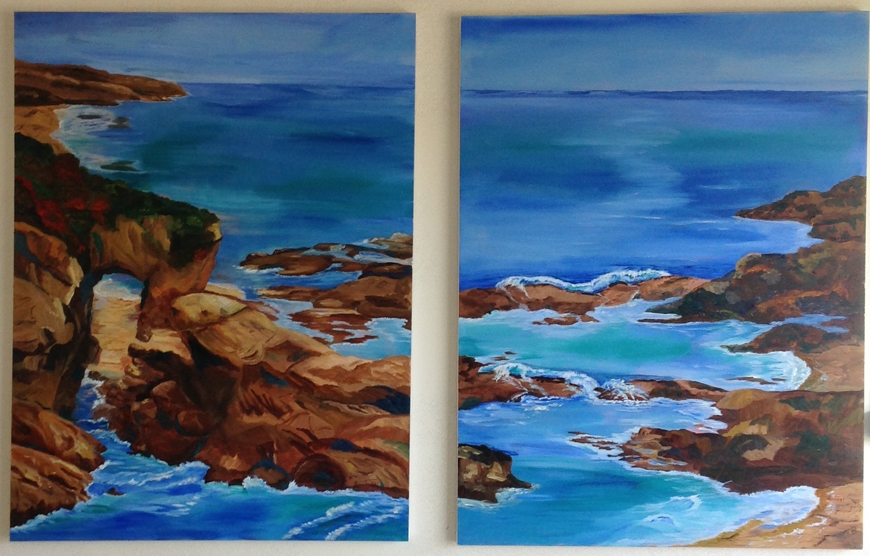 Seascapes which can be used as a Pair