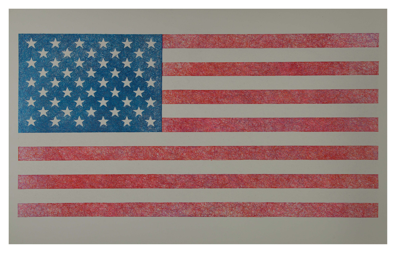 No-42-USA   , 2014  Ink on Paper 40 x 25 in.