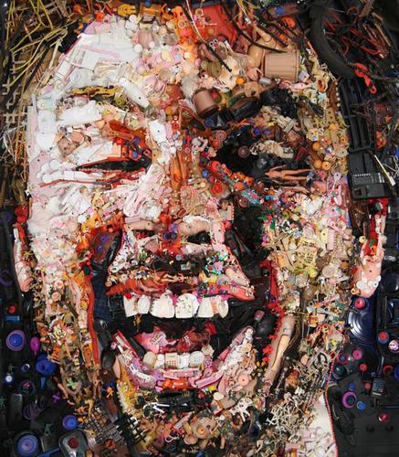 Self Portrait , 2012 Found Objects 60x 48 in.