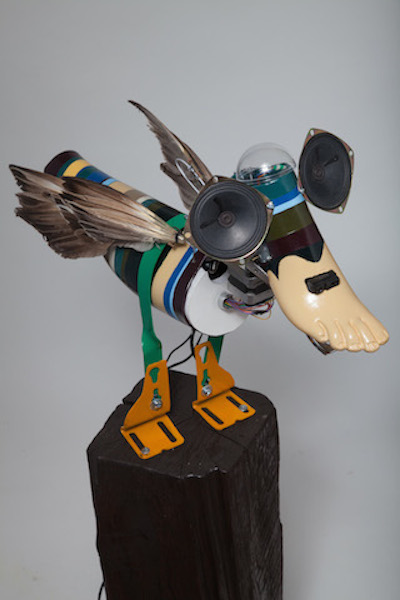 Duck , 2015 Found Materials, Electronics, Wood and Metal 23 x 15 x 8 in.