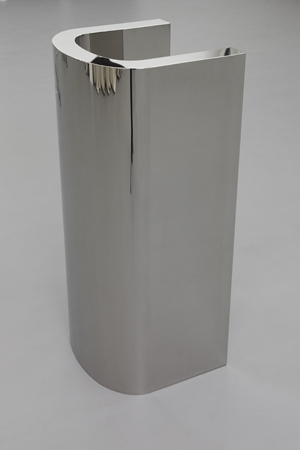WADE GUYTON  UNTITLED, 2007  STAINLESS STEEL  44.5 X 19 X 20 IN  COURTESY OF THE ARTIST
