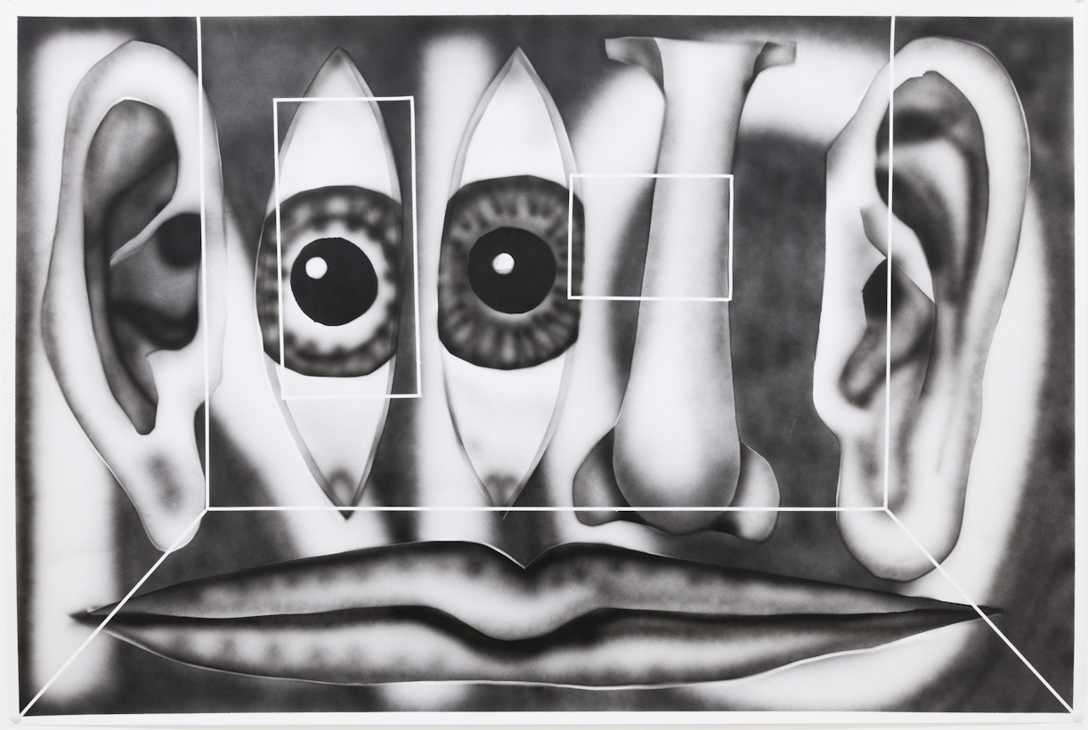 JANA EULER, HOW TO BE MORE THAN ONE THREE PAINTINGS, 2012, INK ON PAPER, 39.5 X 33.5 IN  COURTESY DEPENDANCE