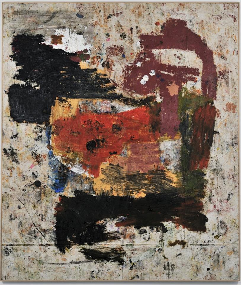 JOE BRADLEY  MASH POTATO, 2011  MIXED MEDIA ON CANVAS  77 X 90 IN  COURTESY OF THE ARTIST
