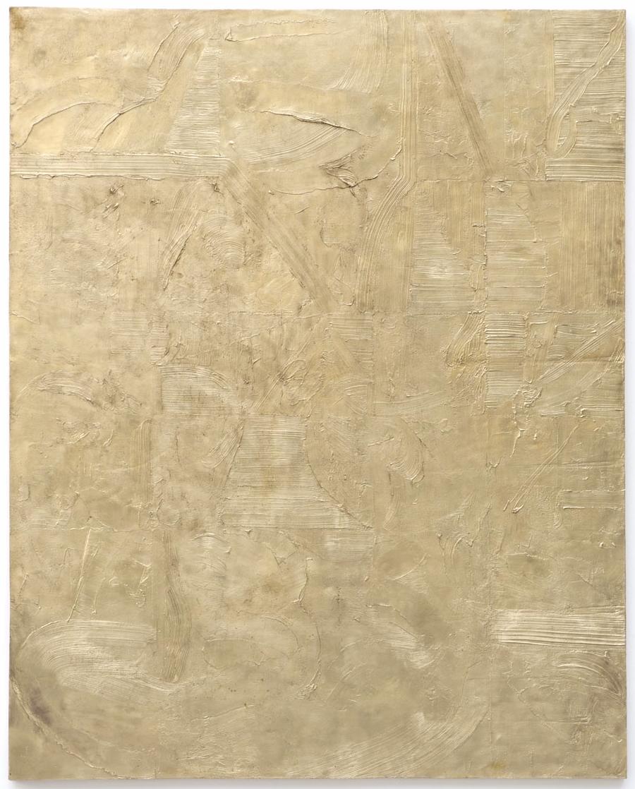 JOHN HENDERSON, UNTITLED, 2012, BRASS, 60 X 48 IN, COURTESY GALERIE PERROTIN,PARIS