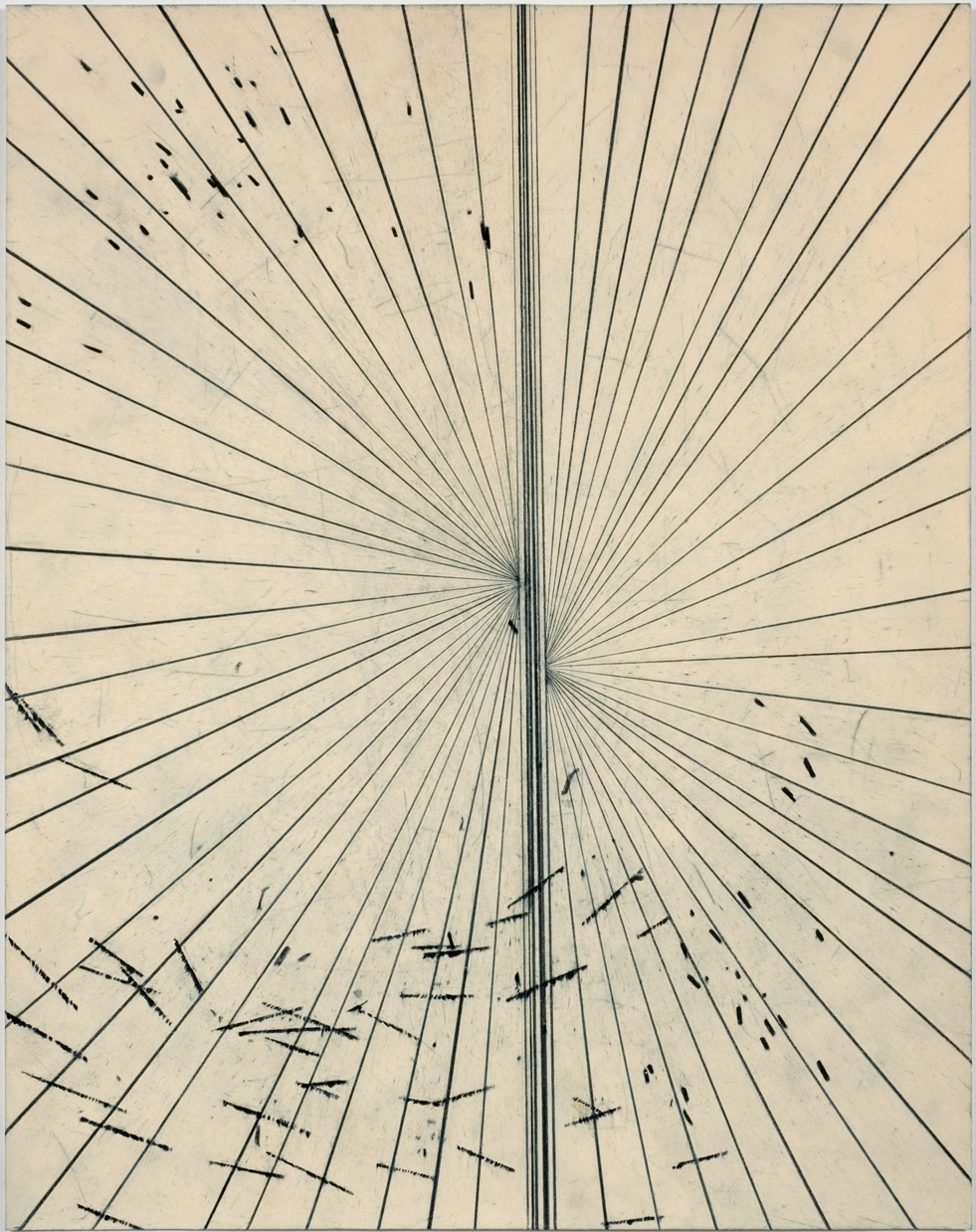 MARK GROTJAHN  Untiled, 2009  Colored pencil on paper  20 x 16 in  Courtesy of the artist