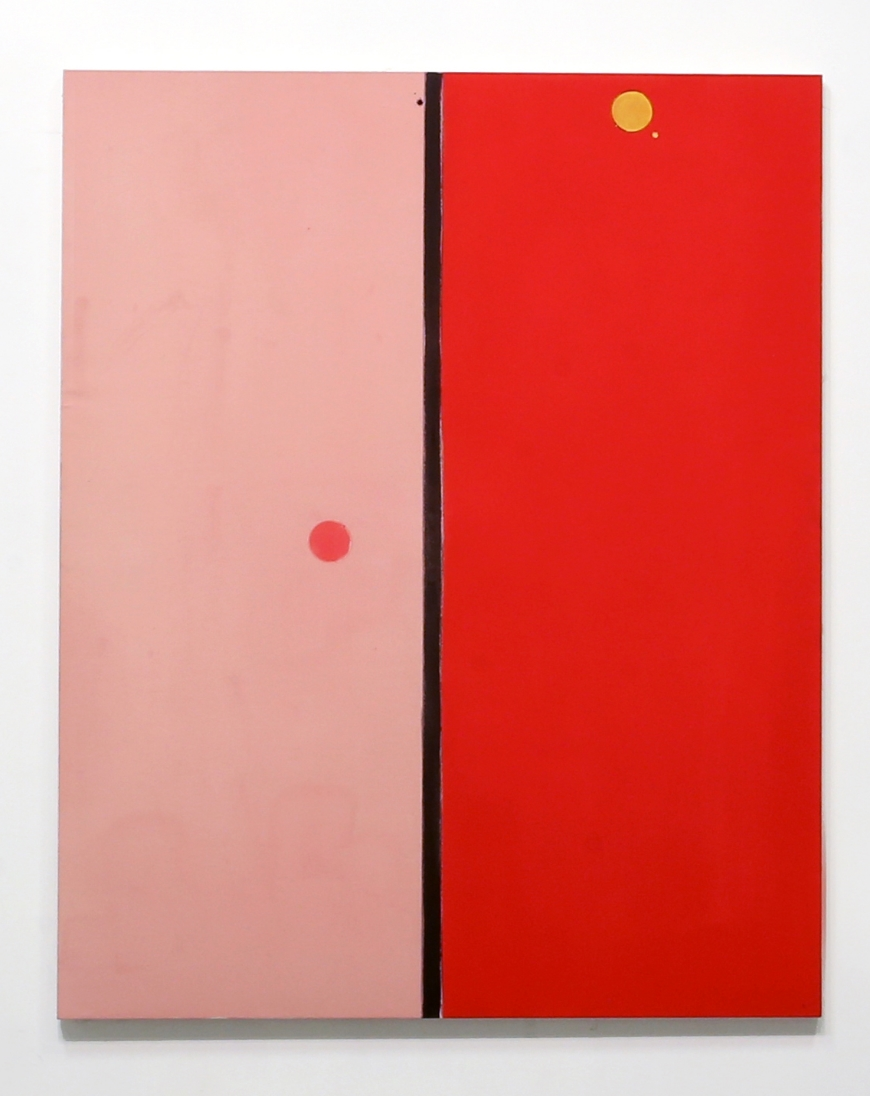 MATT CONNORS  SPLIT (4TH VERSION), 2014  ACRYLIC AND PENCIL ON CANVAS  62 x 50 IN  157.5 X 127 CM  SOLD