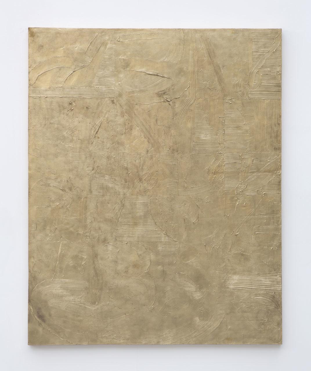 JOHN HENDERSON  CAST, 2012  BRASS  60 X 48 IN  152.5 X 122 CM  SOLD