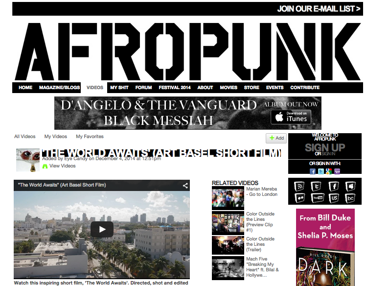 "AFROPUNK Feature for ""The world awaits"""