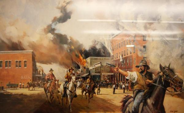 Quantrill's infamous raid on Lawrence, Kansas
