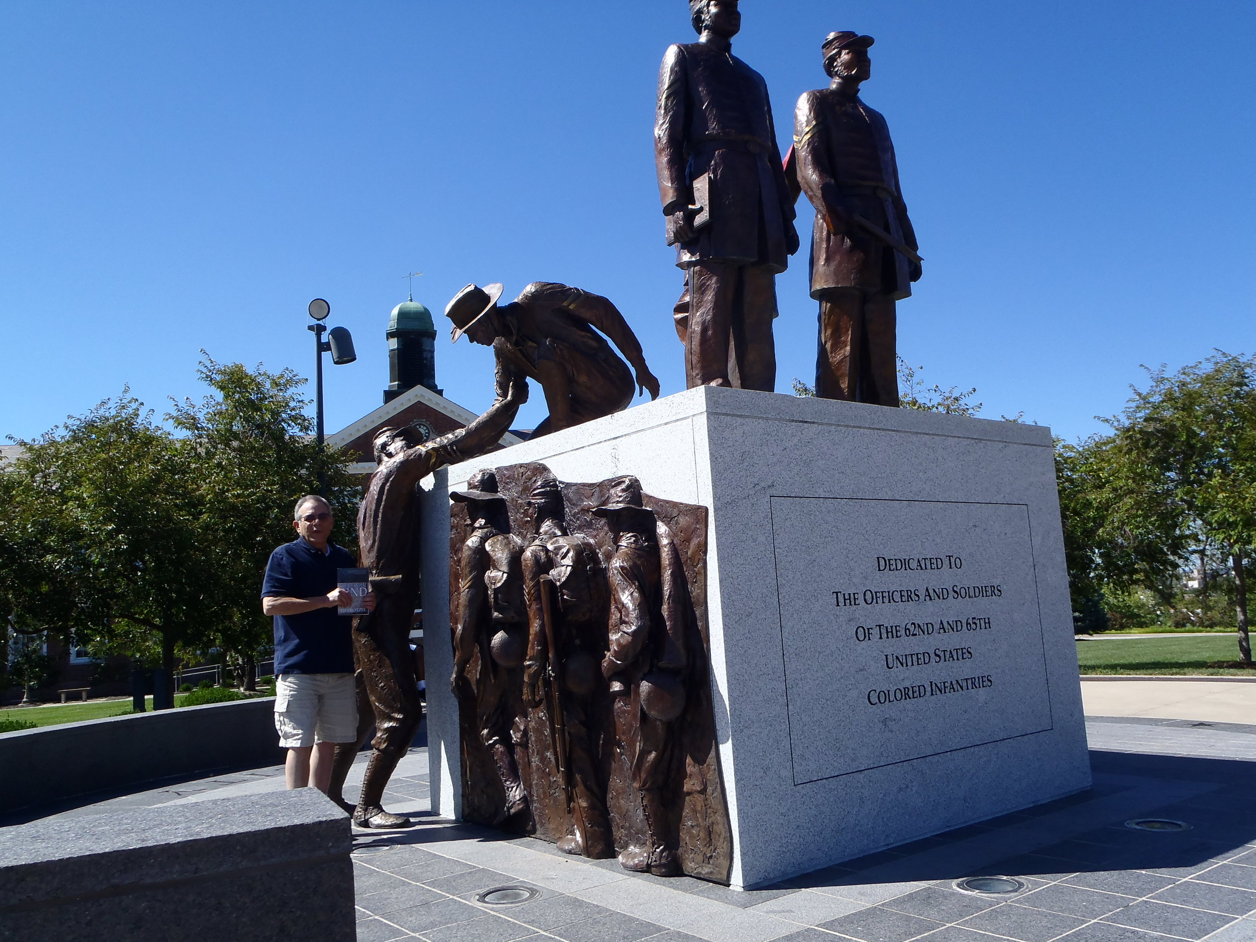 Lifting a fellow soldier up to freedom, Soldiers' Memorial, Lincoln University