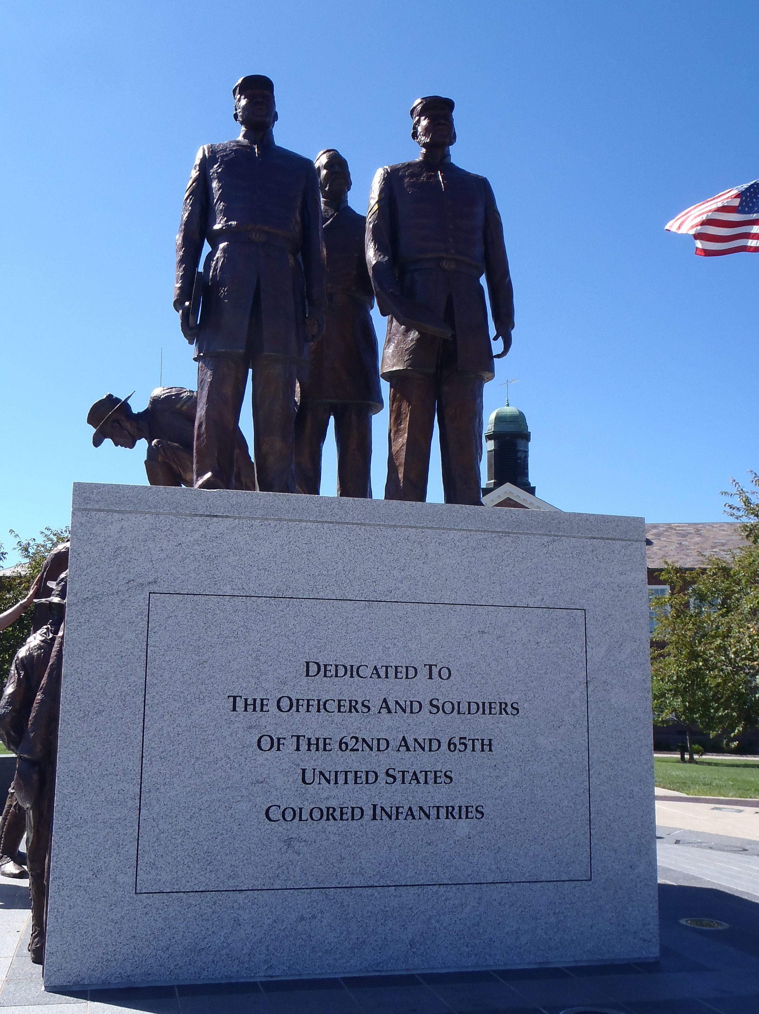 Soldiers' Memorial Plaza at Lincoln University, Jefferson City, Mo., honors black soldiers who fought for the Union during the Civil War.
