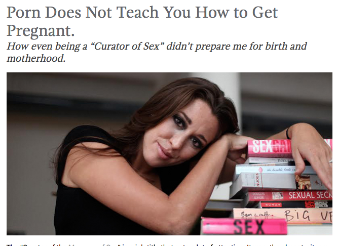Porn Does Not Teach You How to Get Pregnant - Featured in Wellrounded