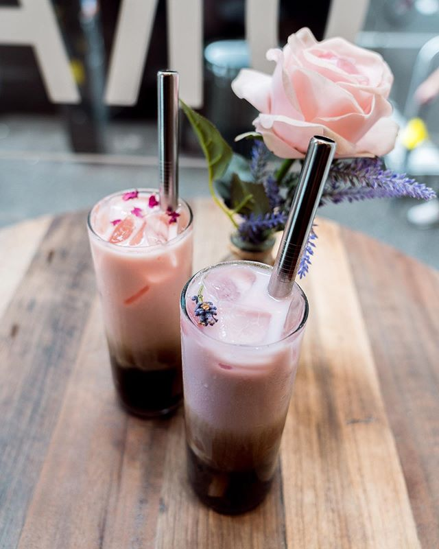 Rose and Lavender Milk Tea- find a better pair! 🖤