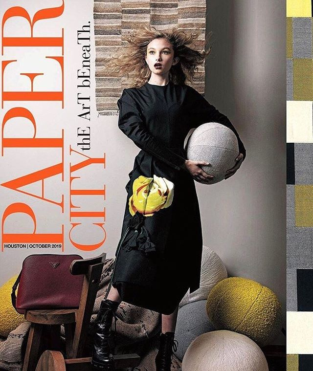 OCTOBER @papercityhouston  @koreym_  in @prada and @abbybagley in @chanelofficial - Photography @ivanaguirrefotografo Art Director + Stylist @michelleavina Hair @tonya.riner Makeup @palomaromo_mua Stylist Assistant @gra.yson