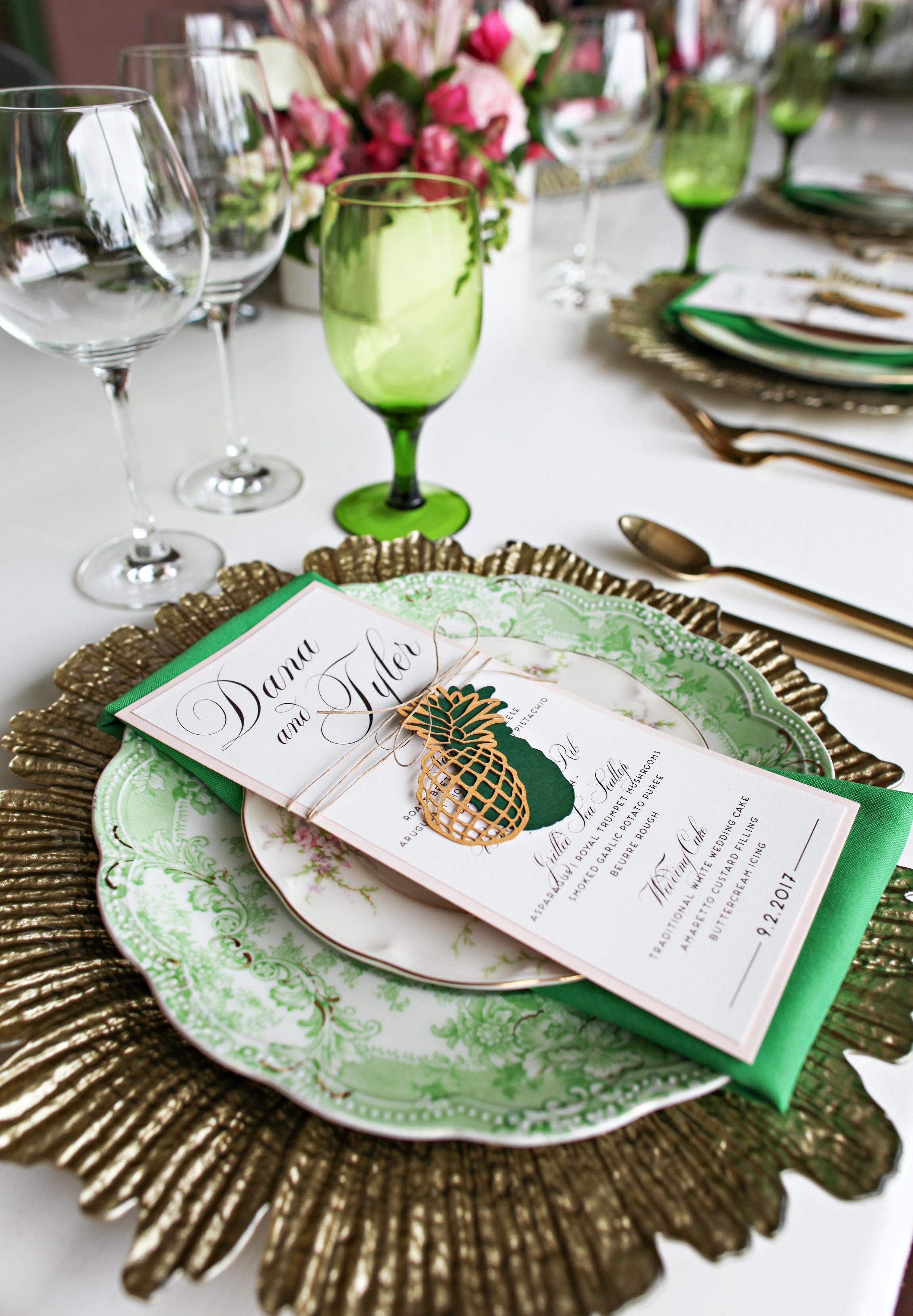 Pineapple Wedding Reception Place Setting.jpg