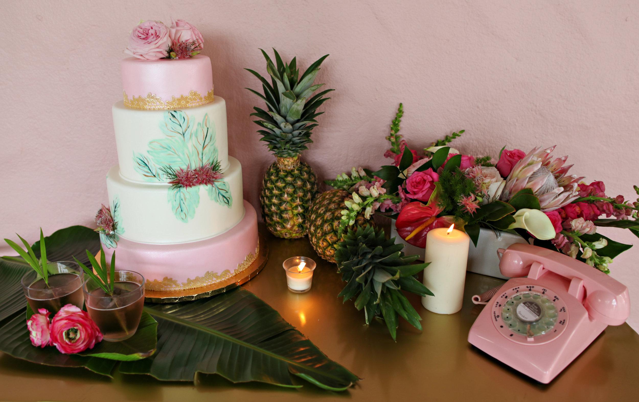 Pink and Green Wedding Cake.jpg