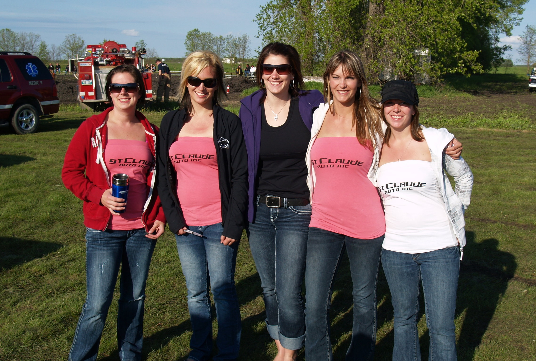 A few of the event volunteers at the 2011 Demolition Derby