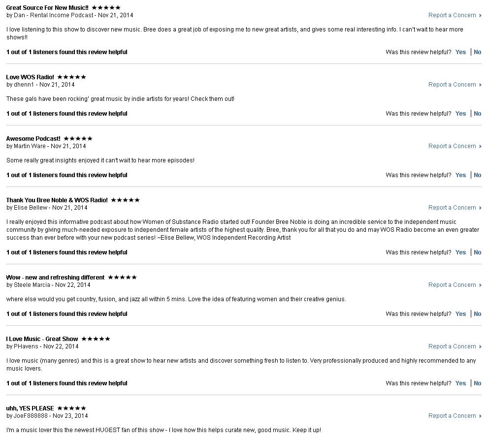 Women of Substance iTunes Reviews