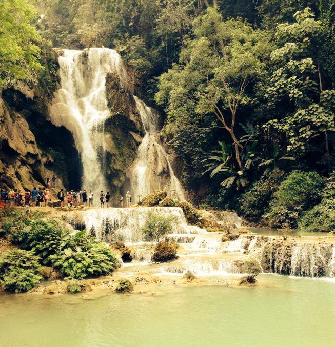 Upper Kuang Si waterfall