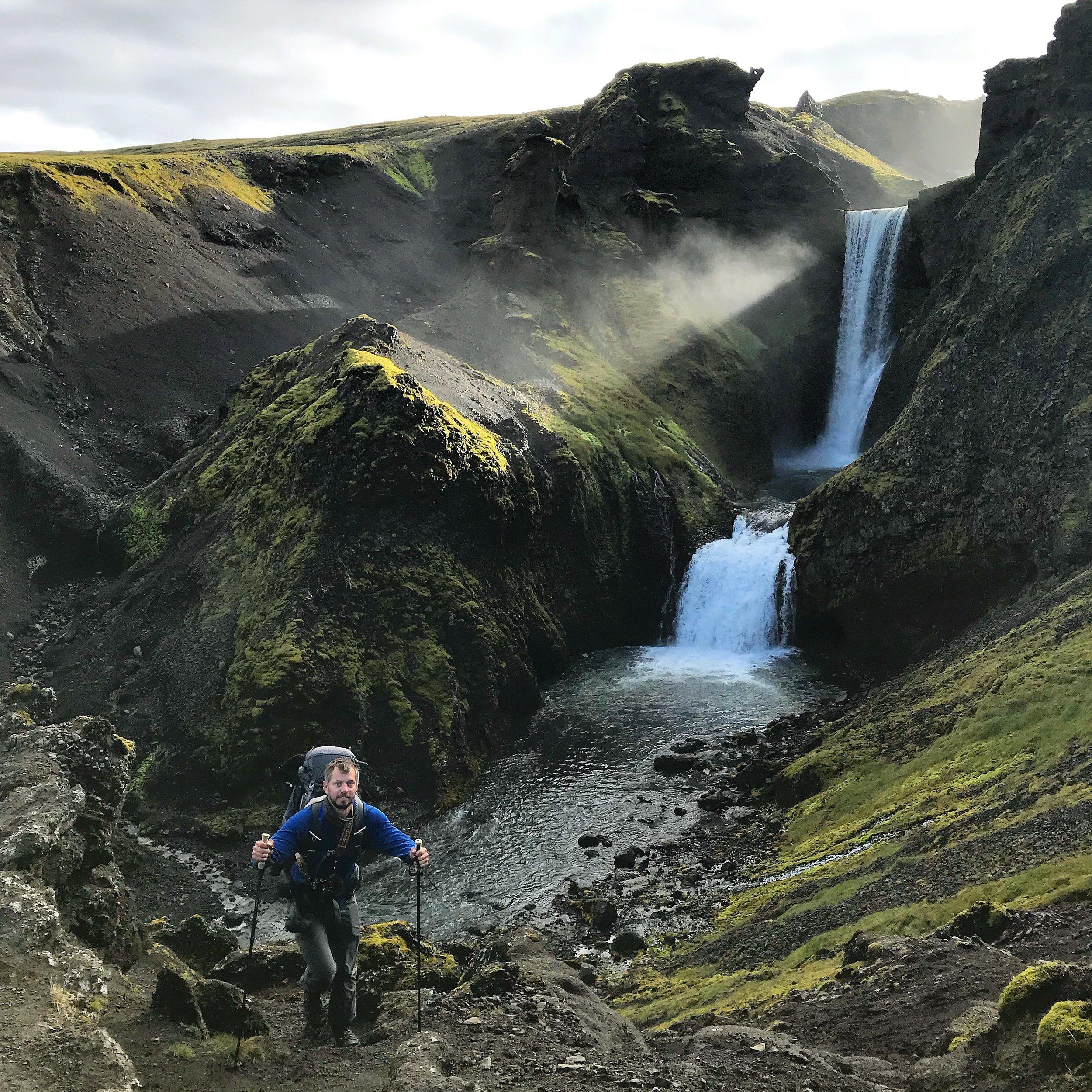 Waterfall near Skogarfoss