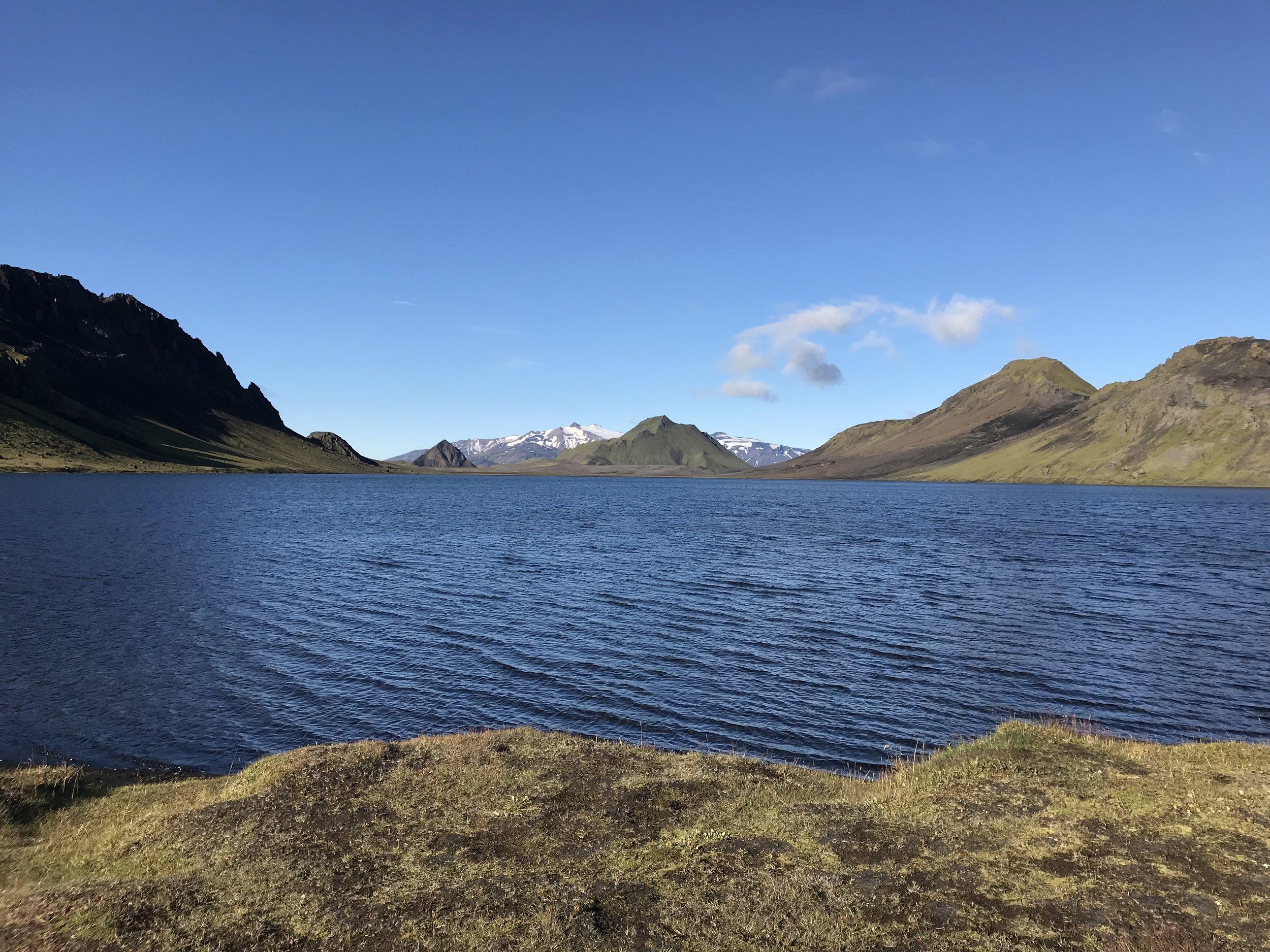 Lake Alftavatn after the rain
