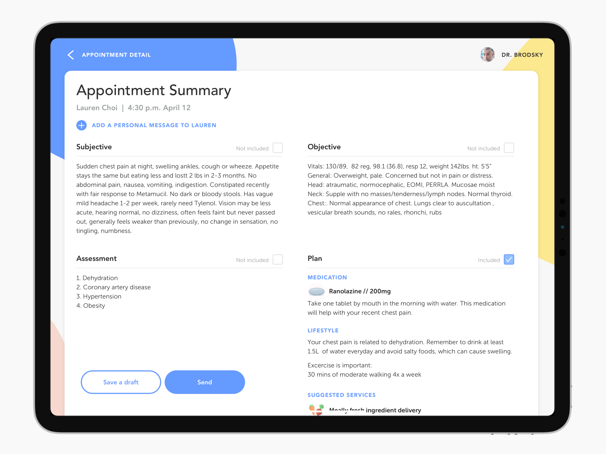 D: Generating appointment summary in the background