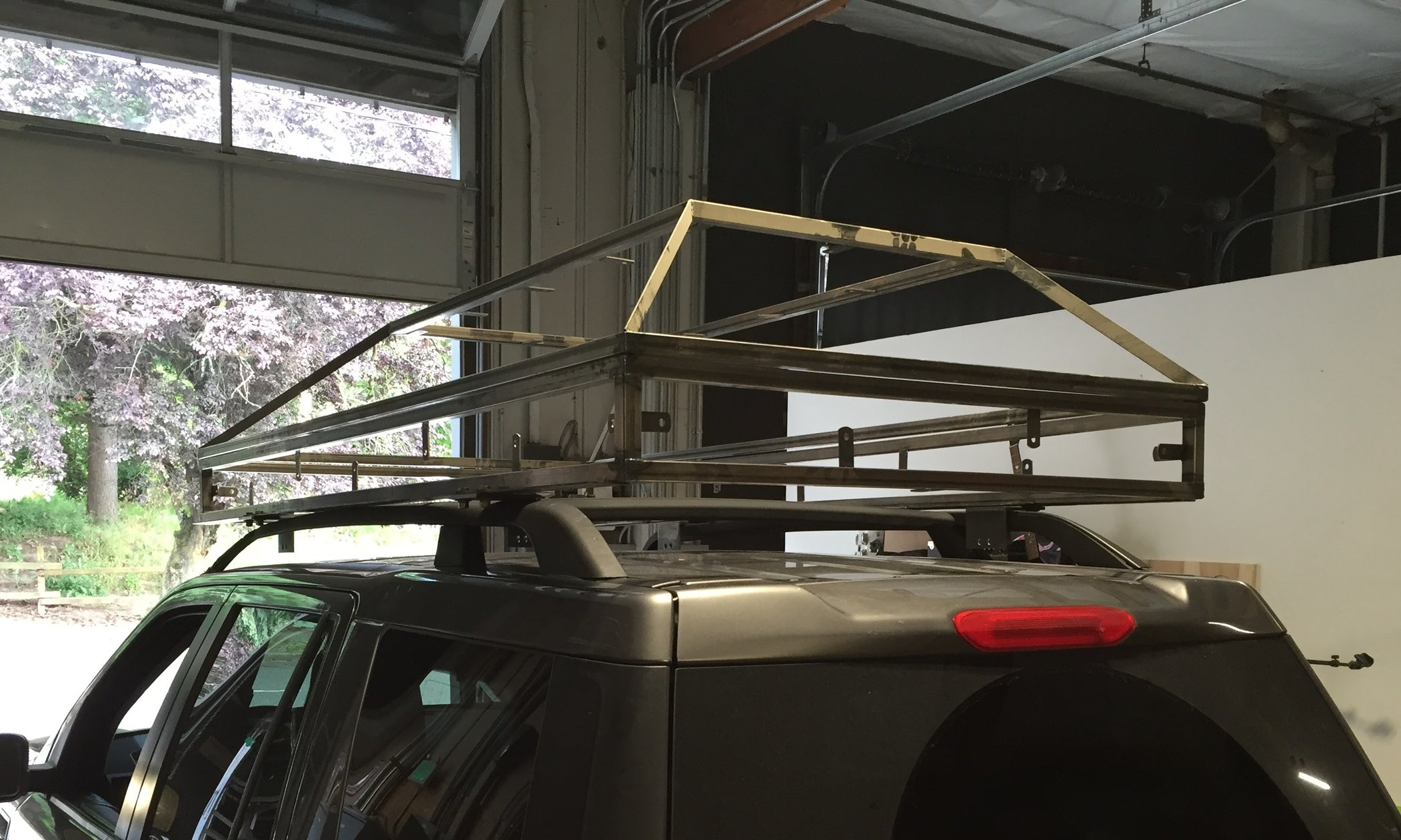 Test fit on roof rack
