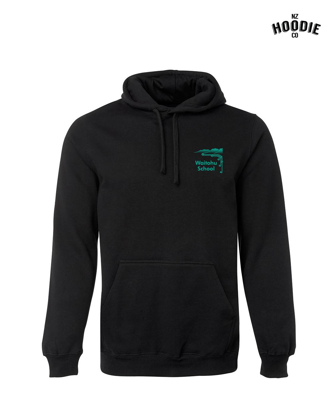 Black hoodie front design green print.jpg
