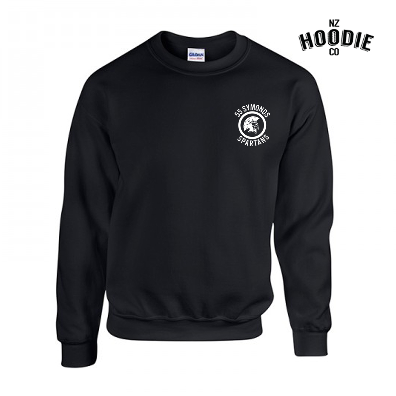 55 Symonds Black Gilden Neck Crew FRONT.jpg