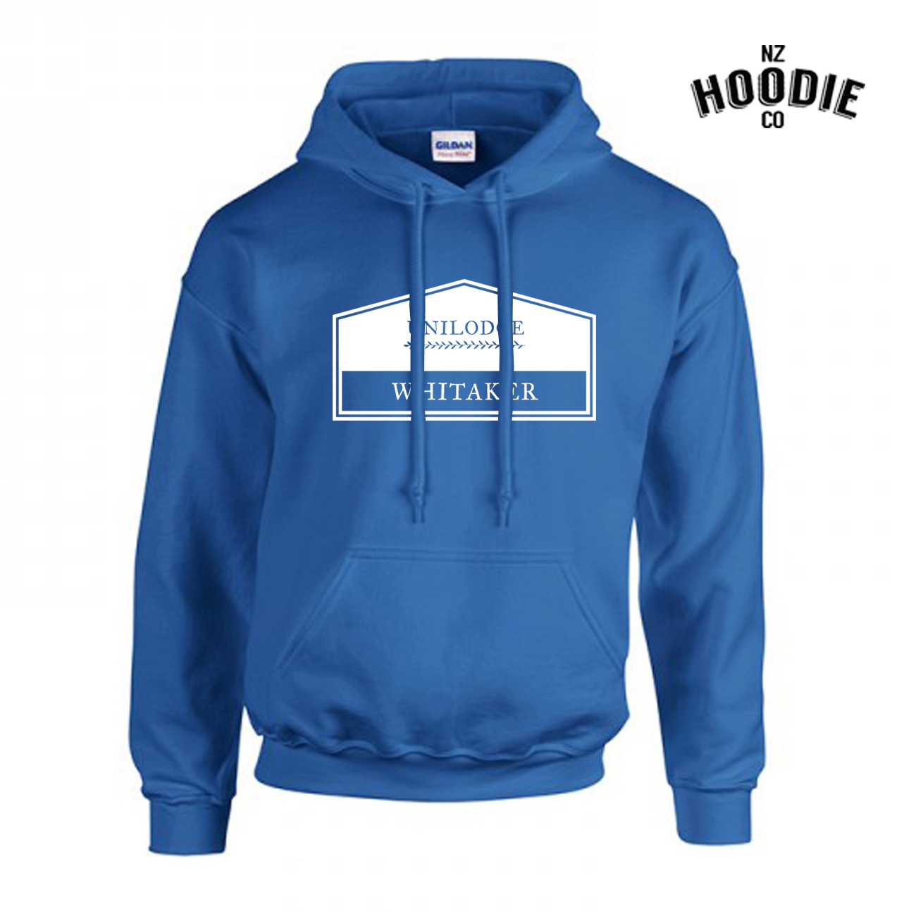UniLodge Whitaker design on Royal Blue Gilden Hoodie.jpg