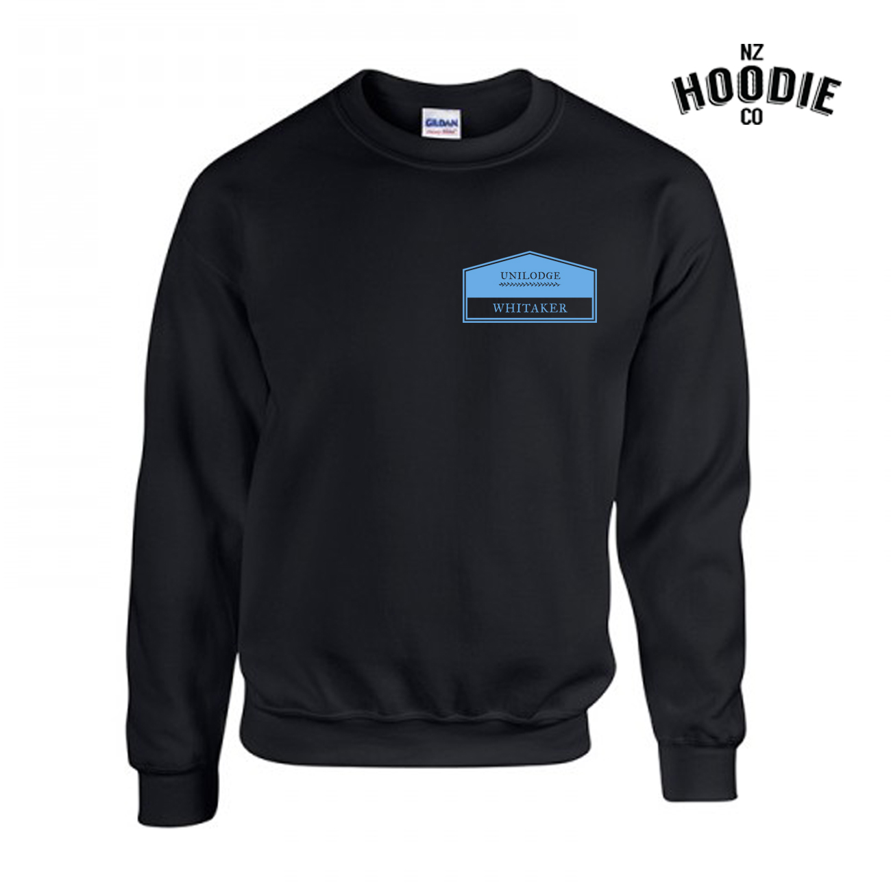 UniLodge Whitaker design on Crew Neck LIGHT BLUE.jpg