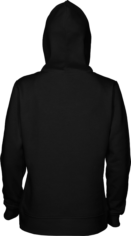 FGH - Womens 280 Pullover Hoodie black-back-hood-up.png