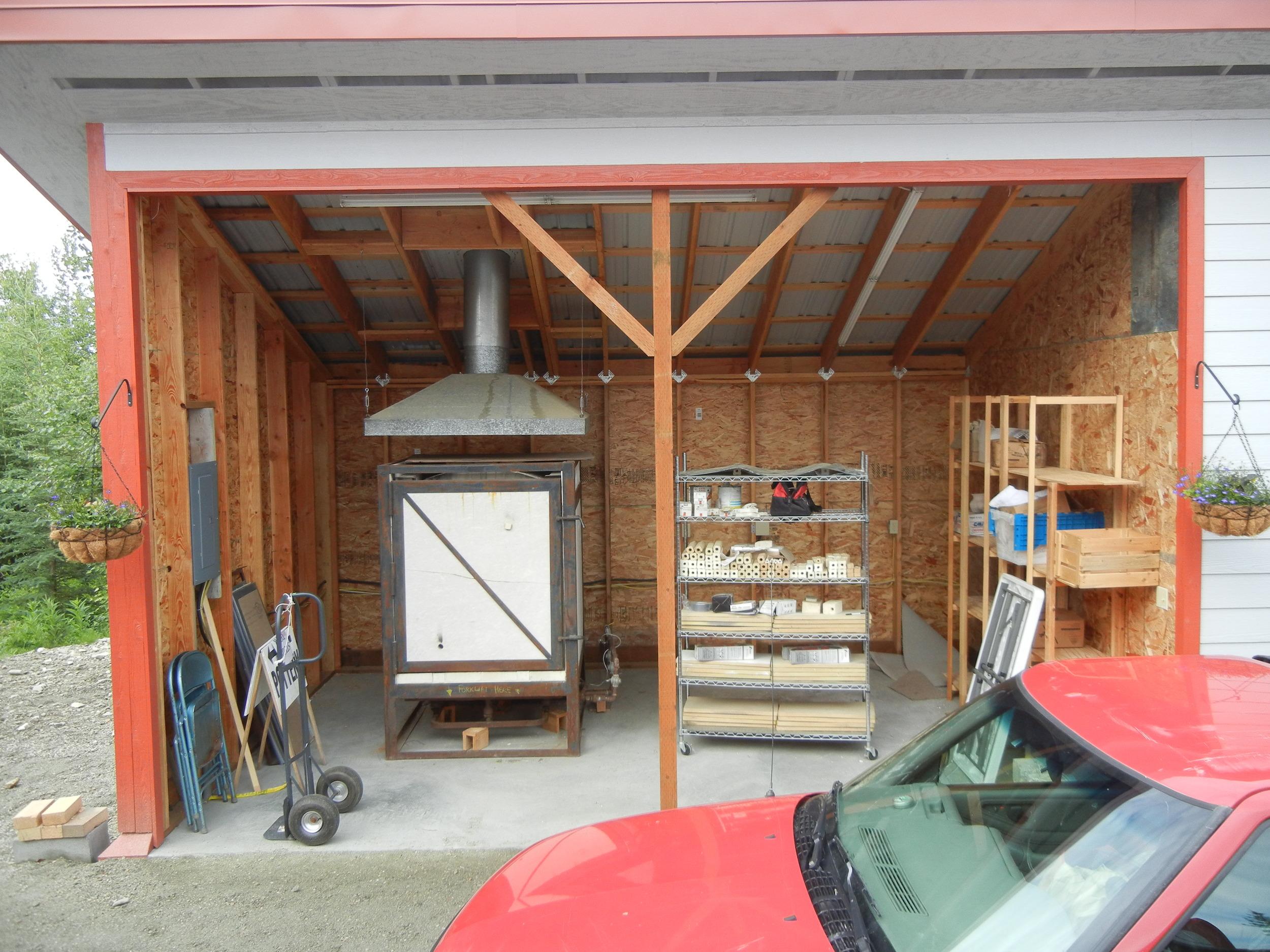 Olson updraft in Fairbanks in kiln shed