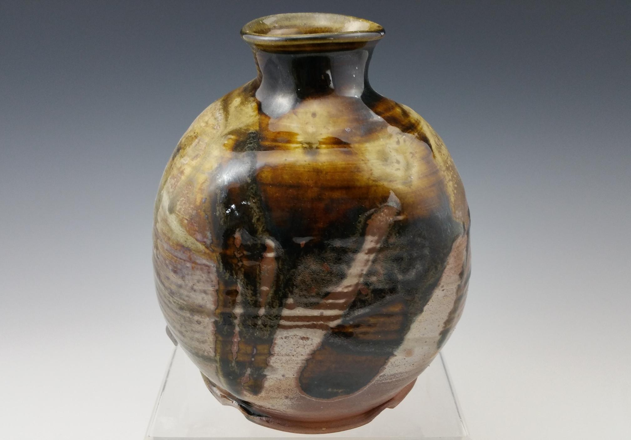 Wood Fired Temoku/Teadust Vase