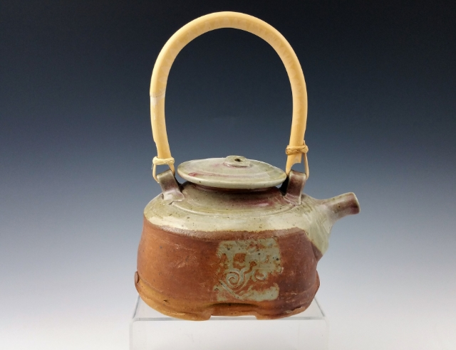 Val/s Blue Square Wood Fired Teapot with Feet