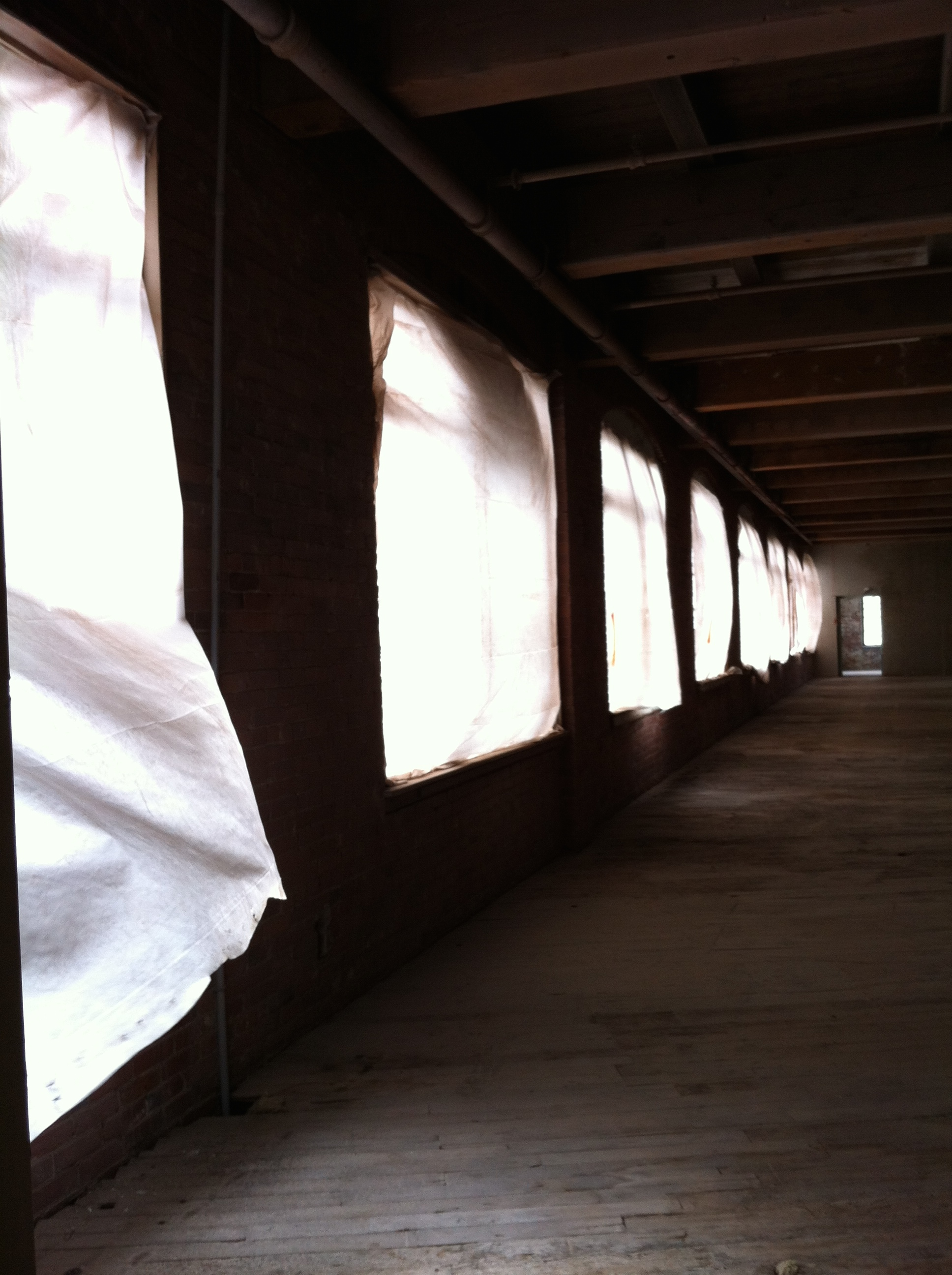 Windows at  Cromwell Mills  on first site visit. Photo credit:  Anastasia Laurenzi