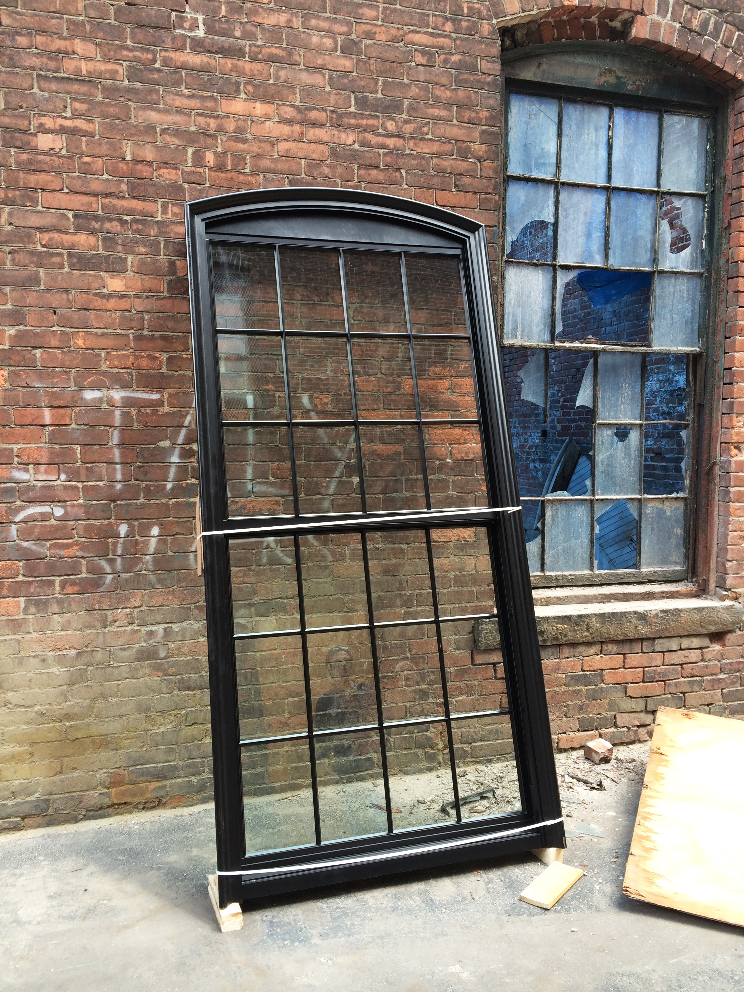 Test fitting new windows at  Cromwell Mills . Photo credit:  Anastasia Laurenzi