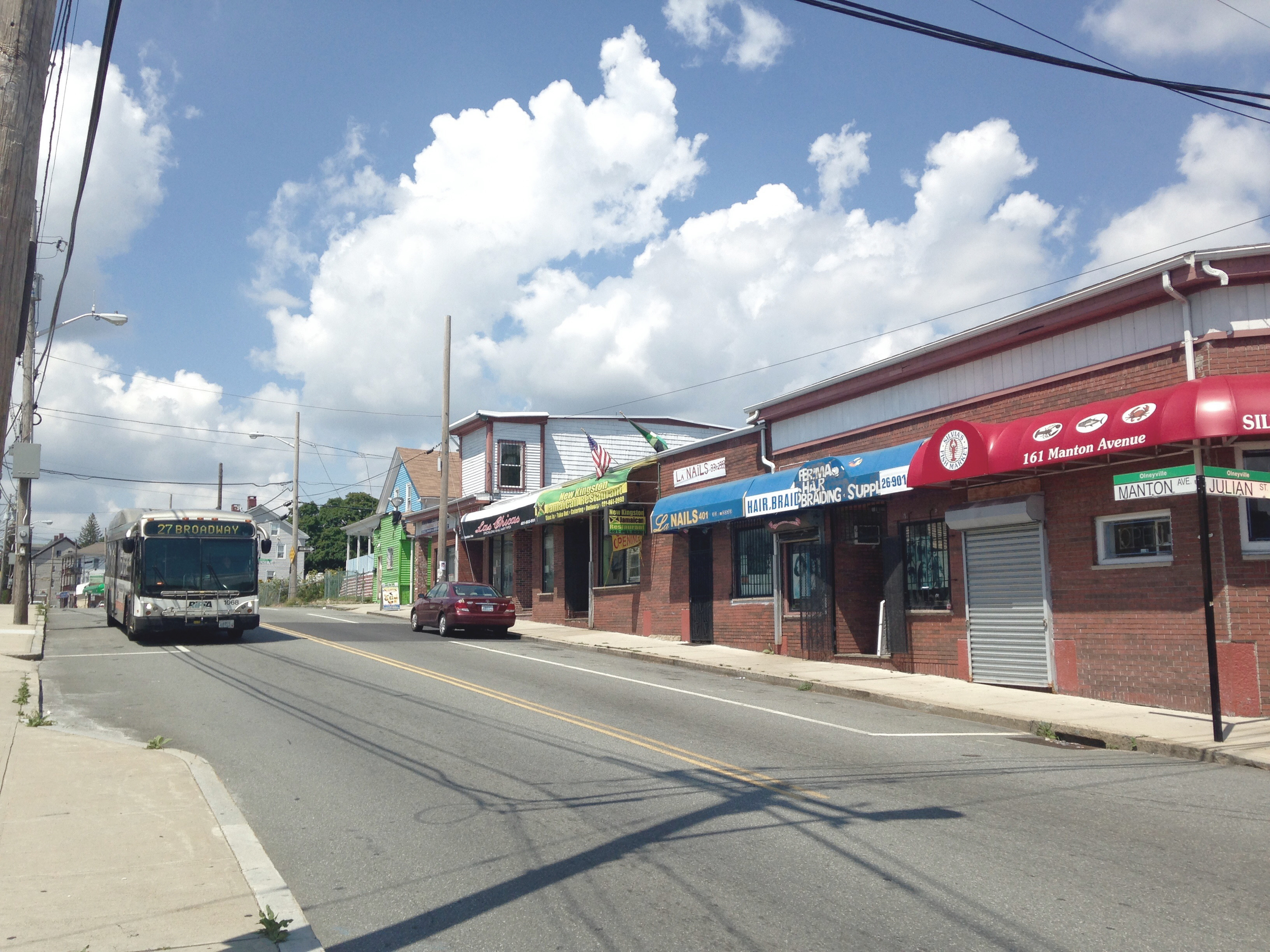 A diversity of small businesses and mom&pop shops make Olneyville the lively and multi cultural place that we love