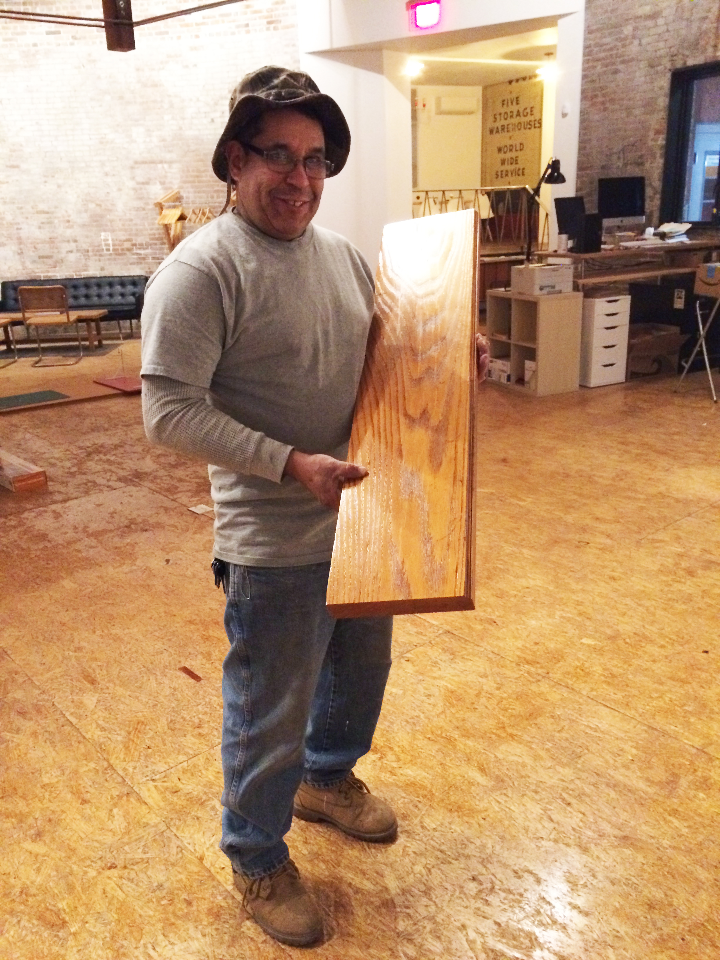 Jose, proudly displaying a finished plank