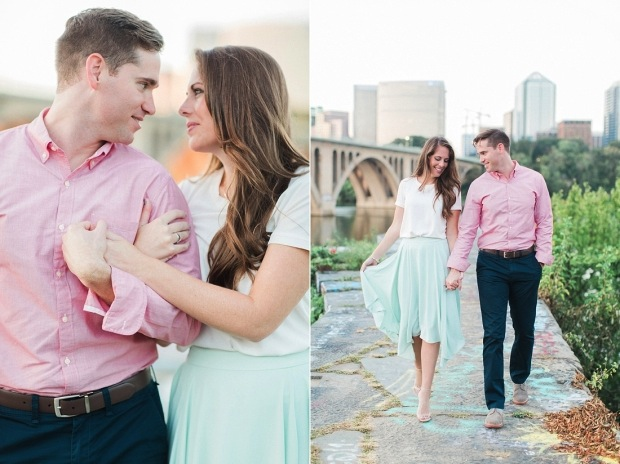 Find out the secret to why some couples are less stressed and happier during their engagement! Image via  Abby Grace Photography
